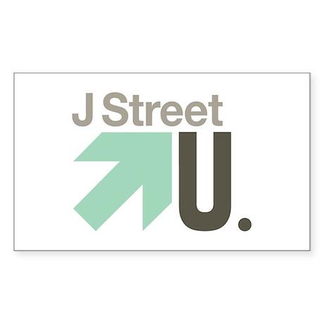 J Street U Rectangle Sticker