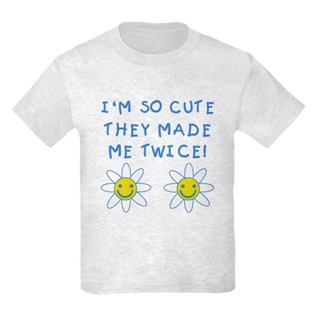 So Cute Made Twice TWINS Kids Light T-Shirt