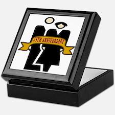 Cute Silver anniversary Keepsake Box