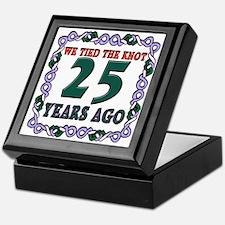 Unique Silver anniversary Keepsake Box