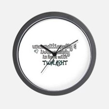 In Love with Twilight Wall Clock