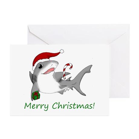 Christmas Shark Greeting Cards (Pk of 10)