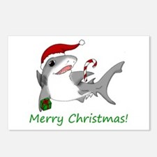 Christmas Shark Postcards (Package of 8)