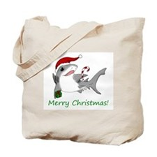 Christmas Shark Tote Bag