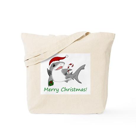 Christmas Shark Tote Bag