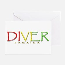 Diver Jamaica Greeting Cards (Pk of 20)