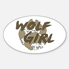 Wolf Girl Oval Decal