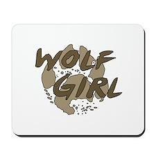 Wolf Girl Mousepad