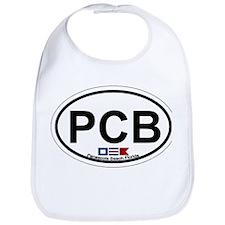 Pensacola Beach Oval Design Bib