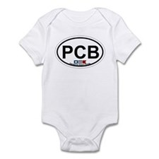 Pensacola Beach Oval Design Infant Bodysuit