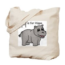 H is for Hippo Tote Bag