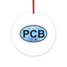 Pensacola Beach Oval Design Ornament (Round)