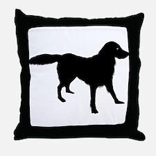 Flat-Coated Retriever Throw Pillow