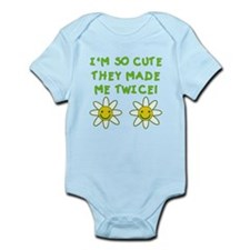 So Cute Made Twice TWINS Infant Bodysuit