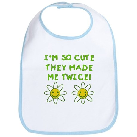 So Cute Made Twice TWINS Bib