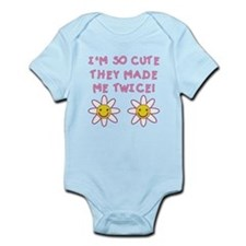 So Cute They Made Me Twice PINK Infant Bodysuit