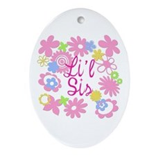 Little Sister Li'l Sis Oval Ornament