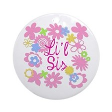 Little Sister Li'l Sis Ornament (Round)