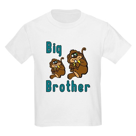 Big Brother with Monkeys Kids Light T-Shirt