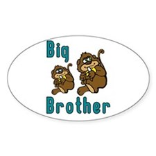 Big Brother with Monkeys Oval Decal