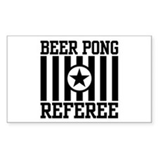 Beer Pong Referee Rectangle Decal