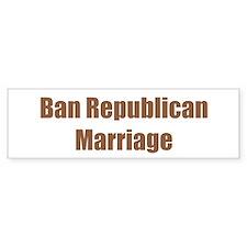 Ban Republican Marriage