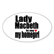 Lady M Oval Decal