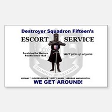 Deston 15's Escort Service Rectangle Decal