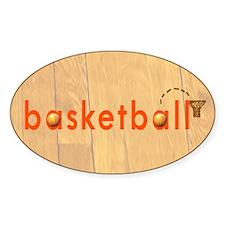 Basketball Oval Sticker (10 pk)
