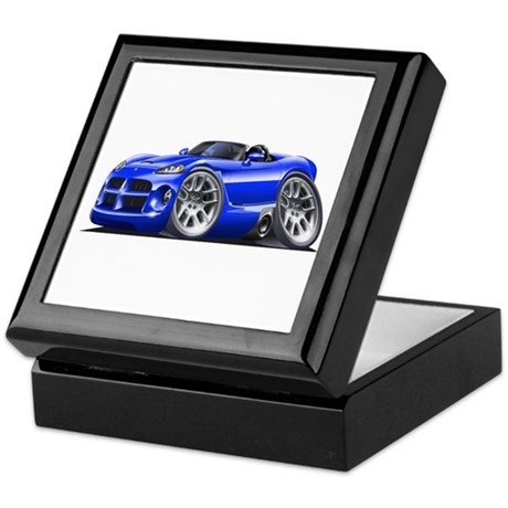 Viper Roadster Blue Car Keepsake Box