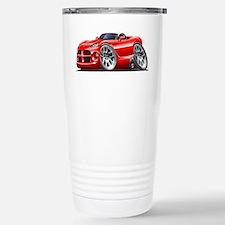 Viper Roadster Red Car Stainless Steel Travel Mug