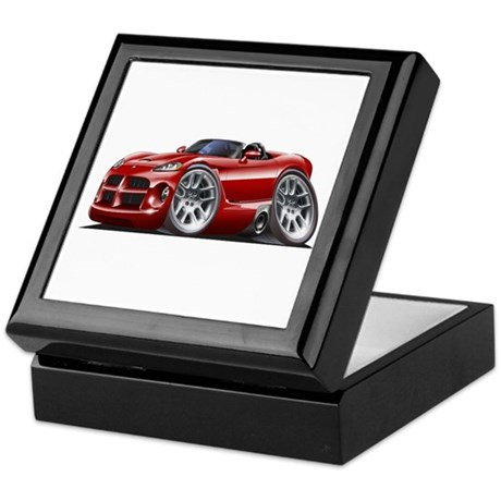 Viper Roadster Maroon Car Keepsake Box