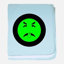 Mr. Yuk logo baby blanket