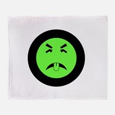 Mr. Yuk logo Throw Blanket
