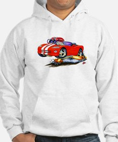 Viper Red/White Convertible Car Hoodie