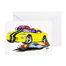 Viper Yellow/Black Car Greeting Cards (Pk of 10)