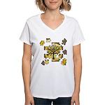 Tree Jigsaw Women's V-Neck T-Shirt