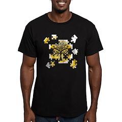 Tree Jigsaw Men's Fitted T-Shirt (dark)