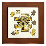 Tree Jigsaw Framed Tile