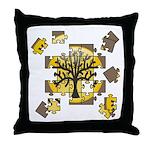 Tree Jigsaw Throw Pillow