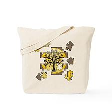 Tree Jigsaw Tote Bag