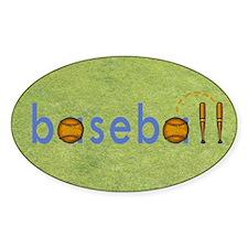 Baseball Oval Sticker (10 pk)