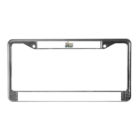 Stay-At-Home Dad License Plate Frame