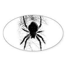 Scary Spider Oval Decal