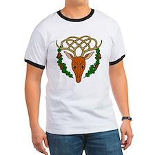 Celtic Stag Ringer T