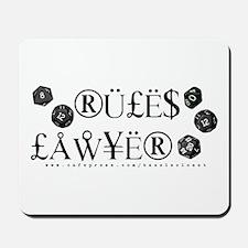 Rules Lawyer Mousepad