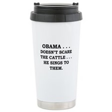 Obama...Doesn't Scare The Cat Travel Mug
