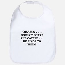 Obama...Doesn't Scare The Cat Bib