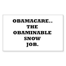 Obaminable Snow Job Rectangle Decal