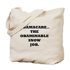 Obaminable Snow Job Tote Bag